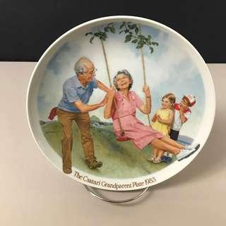 The Swinger, Csatari Grandparent Collector Plate 1983 - Knowles Porcelain