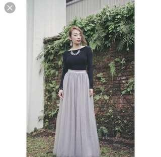 🚚 VGY Tulle Maxi skirt pink