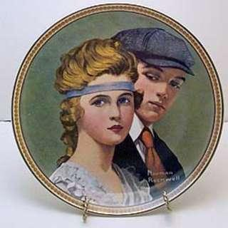 "Norman Rockwell Collector Plate "" Meeting on the Path """