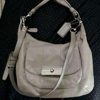 Coach hobo bag full leather with long strap and replacement dust bag