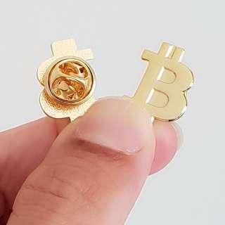 🚚 Gold Bitcoin Collar Pin