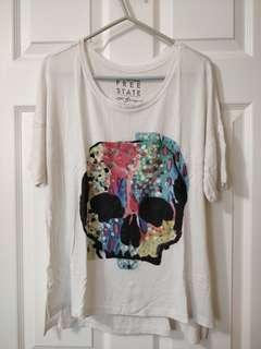 White Graphic T-Shirt/Free State