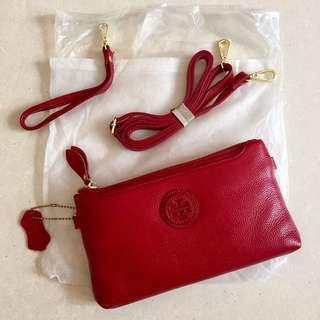Real cow leather Wristlet