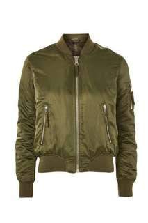 Top shop Green Bomber Jacket Size 10