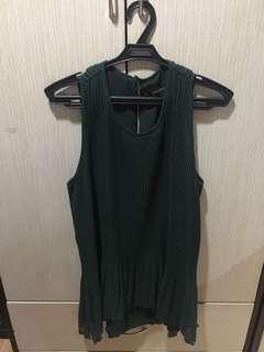 zara dark green blouse looese fitting