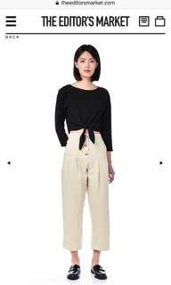 Praia Button Down Wide Leg Pants