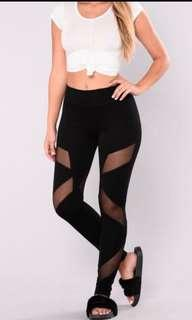 Fashion nova - strength mesh black leggings #SwapAU