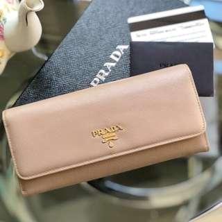Authentic Prada Saffiano Metal Long Wallet