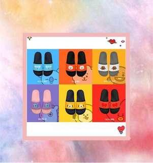 BT21 face slippers