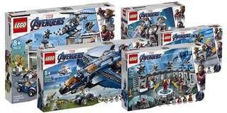 Lego Avengers endgame 復仇者聯盟 76123 76124 76125 76126 76131 共5盒