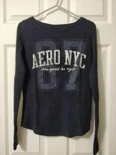 Navy Long Sleeve Shirt/Aeropostale