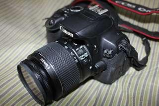 Canon 650D with 18-55 mm len.