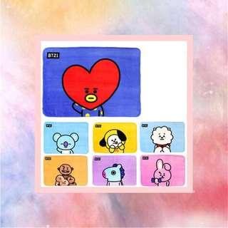 BT21 flannel blanket
