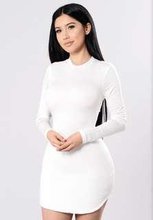 Beverly Hills tunic dress- WHITE (fashion nova) size L