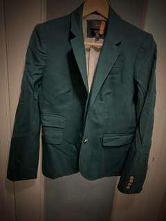 J Crew Wool Blazer Hunter Green, Size 2