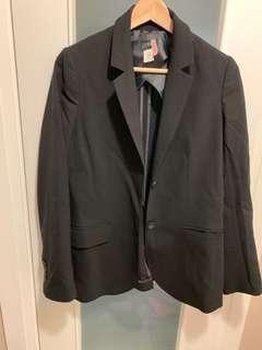 J Crew Classic Black Wool Blazer, Size 2