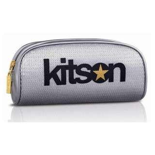 KITSON 經典LOGO 亮片化妝包 #銀