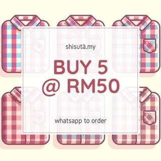 Flannel Shirt 5 @ RM50