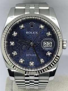 🚚 Rolex Datejust Blue Computer Dial Men 116234