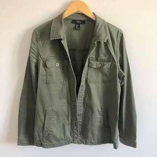 FOREVER 21 ARMY GREEN CARGO JACKET