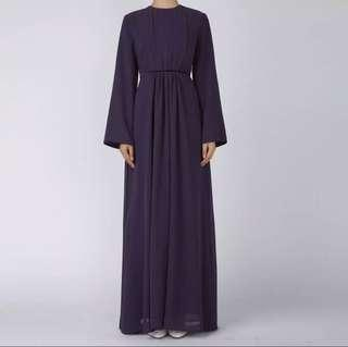 PREORDER: PURPLE JUBAHA ABAYA DRESS free instant hijab