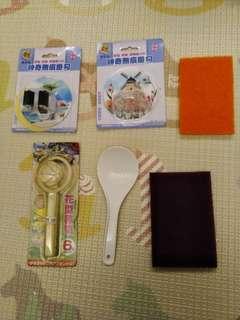 🚚 廚房福袋/無痕貼+切蛋器+飯勺+菜瓜布
