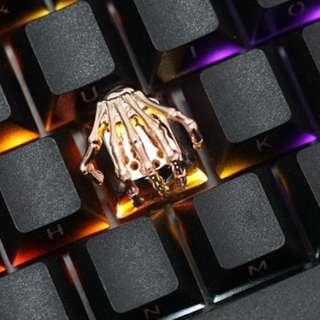 Bone Hand Aluminum Artisan Keycap