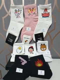 🚚 4 for $10 Cute Ulzzang Socks