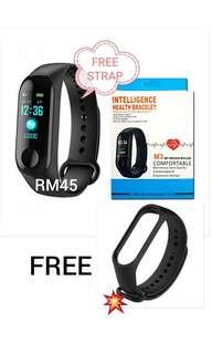 FREE GIFT-M3 Heart rate and Blood Pressure Smartband Fitness Tracker