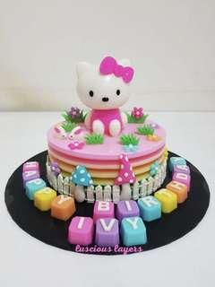 Hello kitty theme jelly cake