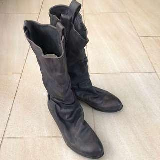 Shoes 日本製扭曲長boot (size 24.5)
