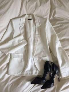 Bardot white blazer