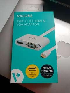 🚚 Valore USB Type-C to HDMI & VGA