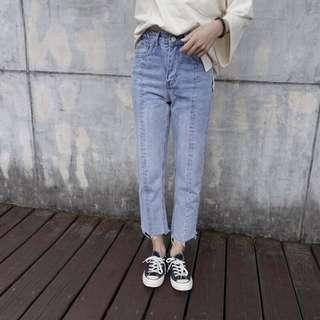 🚚 花泥小姐 修身牛仔褲 S