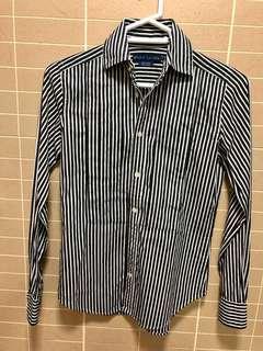 Ralph Lauren black stripe shirt