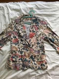 Vintage floral blazer jacket