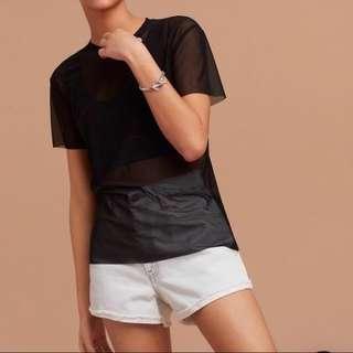 Aritzia Wilfred Free Mesh T-Shirt M