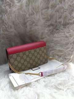 GUCCI GG Chain Wallet NEW