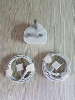 iPhone original charger and cable,new