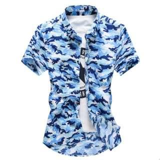 Men Korean Youth Trend Slim Fit Camouflage