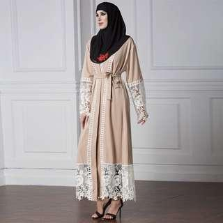 FREE POSTAGE Pre-order Lace Cardigan Abaya with matching free strap