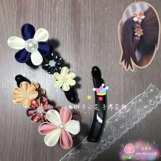 純手工相交夾 馬尾夾 日式和風花朵