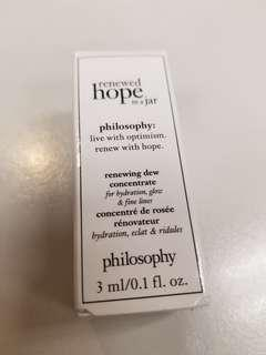 Philosophy hope in a jar renewing dew concentrate