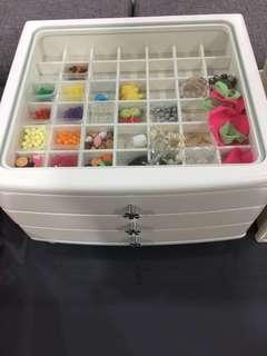 Organizer three-tier Drawers Minimalist Home Improvement Kon Mari Crystal storage