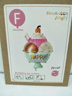 Birthday Ice Cream 75/47 foil balloon