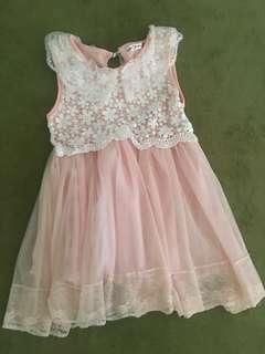 Kids Dress 4y-5y (Peach)