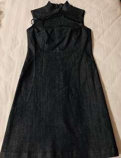 🚚 Denim Cheongsam Type Dress