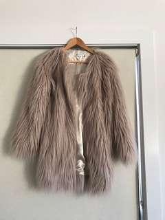 Blush Faux fur Shag Coat