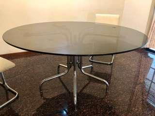 Solid Quality Glass Round Dining Table till 6Apr