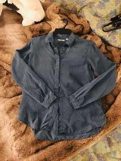 100% silk uniqlo blouse